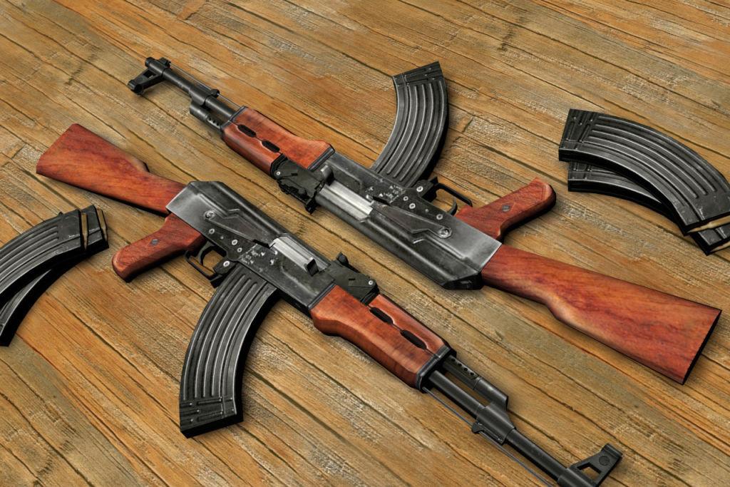 Original AK-47 Kalashnikov shooting